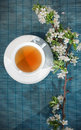 Cup of herbal tea, artistic