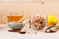 Cup of herbal tea with dried lemon grass Royalty Free Stock Photo