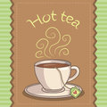 Cup of hot tea illustration a Stock Photo