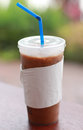 A cup of ice coffee Royalty Free Stock Photo