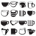 Cup icons and signs set Stock Photography