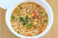 A cup of instant noodle