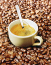 Cup of Italian espresso coffee Stock Photo