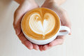 A cup of latte art Royalty Free Stock Photo