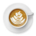 Cup of latte art coffee Royalty Free Stock Photo
