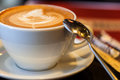 Cup of latte or cappuccino or mocha coffee Royalty Free Stock Photo