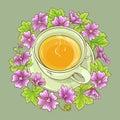 Cup of malva tea Royalty Free Stock Photo