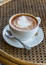 Cup of mocha on relate table drink Royalty Free Stock Photo