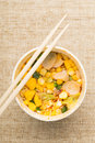 Cup noddles japanese fast food Royalty Free Stock Images