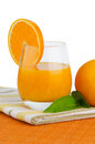 Cup of orange juice and fresh Stock Photography
