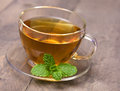 A cup of peppermint tea Royalty Free Stock Photo