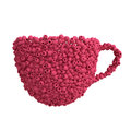 Cup of raspberries isolate on white background Royalty Free Stock Images