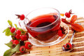 Cup of rosehip tea Stock Photography