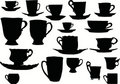 Cup silhouettes collection Royalty Free Stock Photos