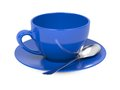 Cup with Spoon and Saucer. Royalty Free Stock Photo