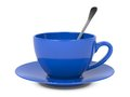 Cup with Spoon and Saucer. Stock Photography