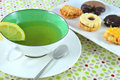 Cup of tea with biscuits Royalty Free Stock Photo