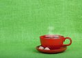 Cup of tea or coffee with copy space Royalty Free Stock Photos