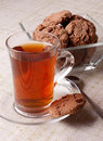 Cup of tea and cookies Royalty Free Stock Image