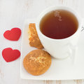 Cup of tea with cookies Stock Image