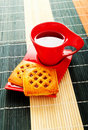 Cup of tea and fresh cookies Royalty Free Stock Photography