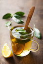 Cup of tea fresh made with fresh leaves Royalty Free Stock Photography
