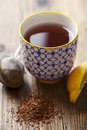 Cup of tea red rooibos Stock Images