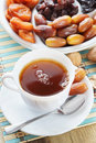 Cup Of Tea And Sweet Dried Fruits Royalty Free Stock Image