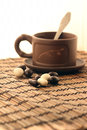 A cup of tea and sweets Royalty Free Stock Photo
