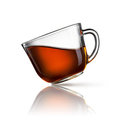 Cup of tea on white Stock Photography