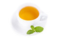 Cup of tea on white background Stock Photo