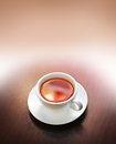 Cup of tea on wooden table Stock Photography