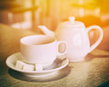 Cup And Teapot Royalty Free Stock Photo