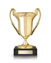 Cup trophy golden on white background Stock Image
