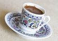 Cup of turkich coffee turkish with a oriental ornament Royalty Free Stock Photography