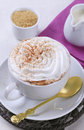 Cup of vienna coffee with whipped cream Royalty Free Stock Images