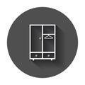 Cupboard furniture icon.