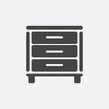 Cupboard icon on white background.