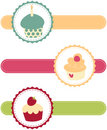 Cupcake Banners Royalty Free Stock Image