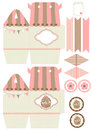 Cupcake box template favor gift die cut designer Royalty Free Stock Photography