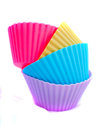 Cupcake cases on a white background Stock Photos