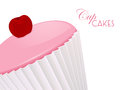 Cupcake close up background Stock Photo