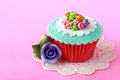 Cupcake close up of a beautiful colorful Stock Photo