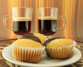 Cupcake and coffe Royalty Free Stock Photo