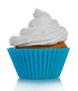 Cupcake with cream butter on white background Royalty Free Stock Photo
