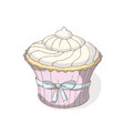 Cupcake cute vector on white Stock Photos