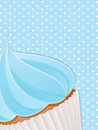 Cupcake dichte omhooggaande background Stock Foto
