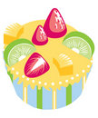 Cupcake with fruits Royalty Free Stock Images