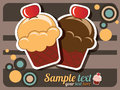 Cupcake invitation Royalty Free Stock Images