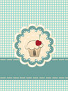 Cupcake invitation card Stock Images